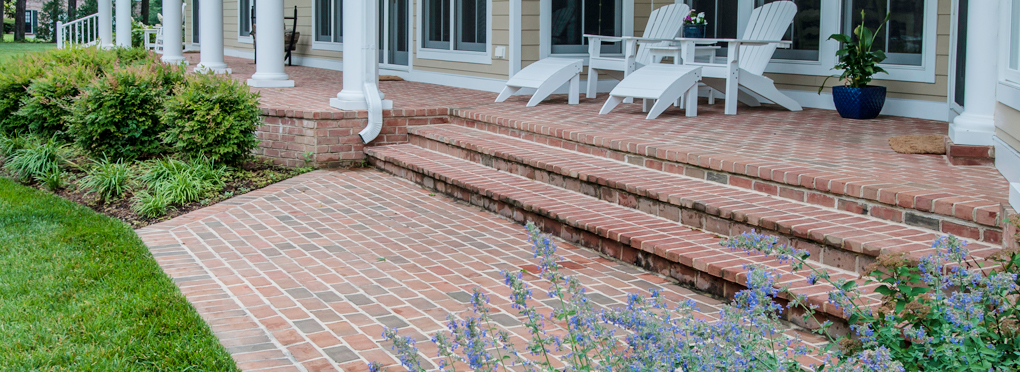 brick porch by McHale Landscape Design