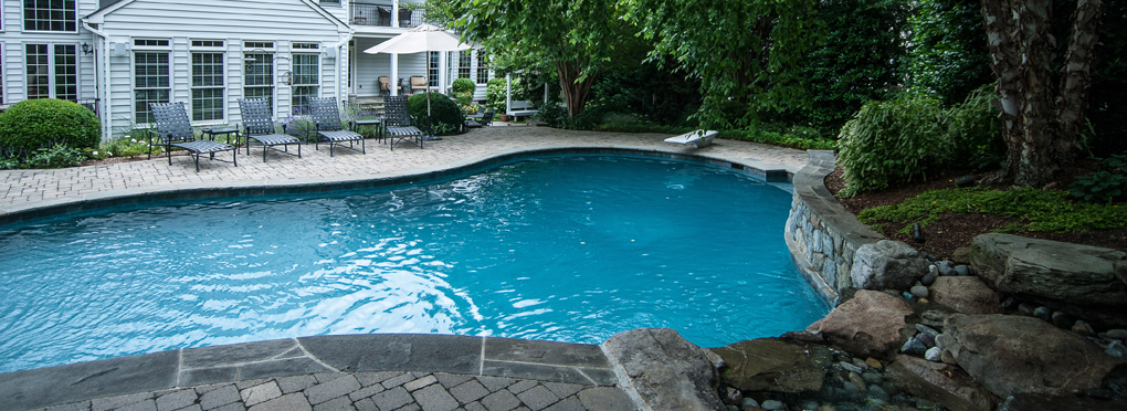 Inground pool landscaping mchale landscape design for Pool landscaping pictures