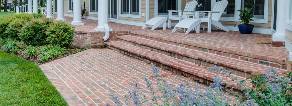brick porch by McHale Landscape Design
