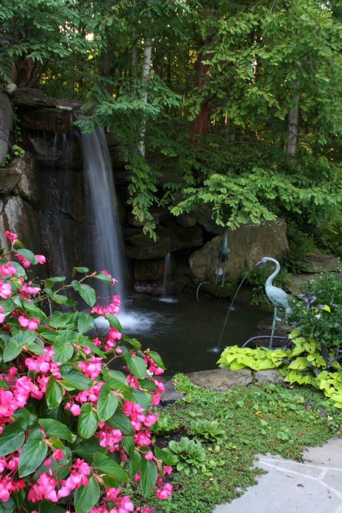 hardscape waterfall